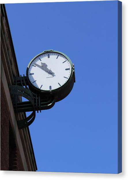 Art Deco Clock Canvas Print