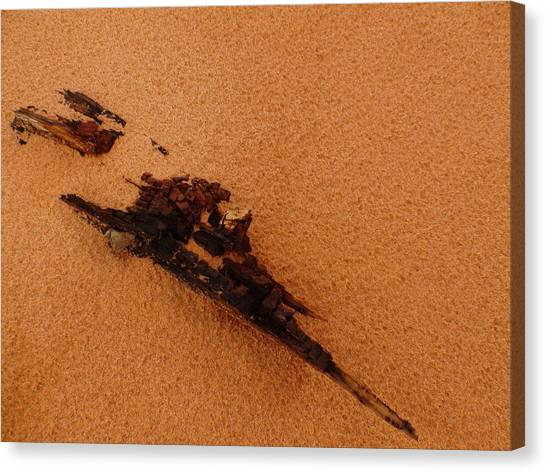 Art In The Sand Canvas Print