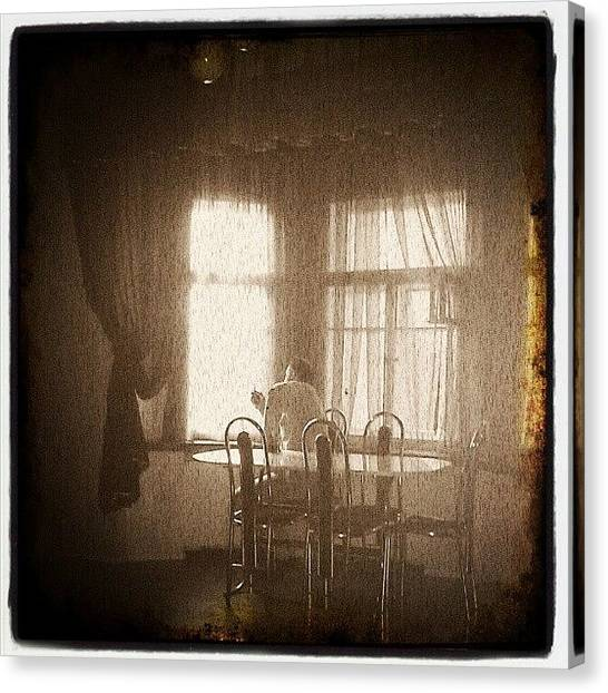 Horror Canvas Print - #art, #old, #oldphoto, #room, #home by Max Deviantrex