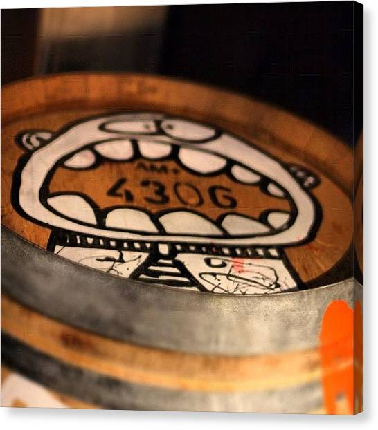 Wine Barrels Canvas Print - Arte En Barrica. #zuccardi #mendoza by Christian Kennedy