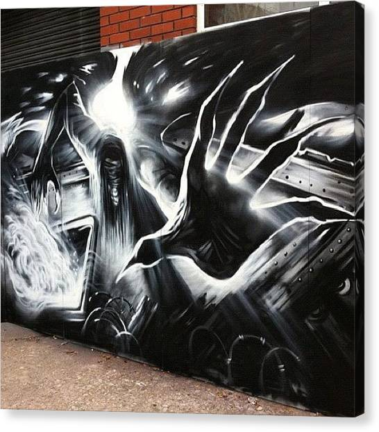 Fingers Canvas Print - #artist #walls #wall #upfest #2011 #can by Nigel Brown