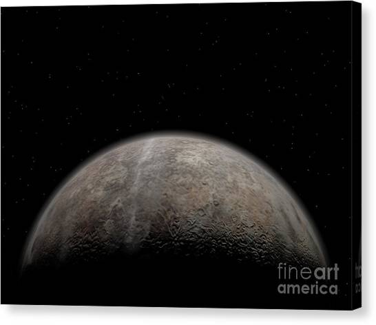 Planetoid Canvas Print - Artists Concept Of Pluto by Walter Myers
