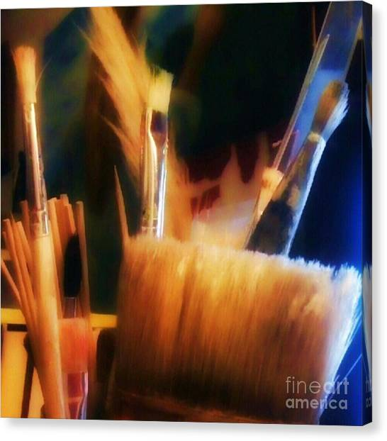 Tools Canvas Print - Artists Tools by Abbie Shores