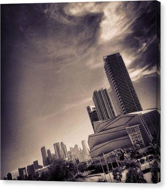 Skylines Canvas Print - Arts Center - Miami by Joel Lopez