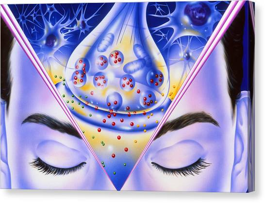 Artwork Showing Sleeping Drug Action With Face Canvas Print by John Bavosi