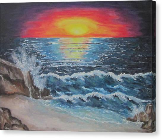As Dawn Breaks Canvas Print