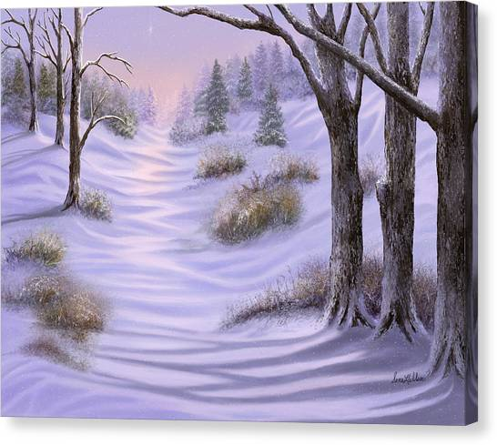 As Snow Falls Comes Silence Canvas Print