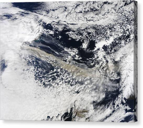 Eyjafjallajokull Canvas Print - Ash Plume From Eyjafjallajokull Volcano by Stocktrek Images
