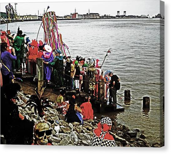 Ashes To Water Mardi Gras Day In New Orleans Canvas Print