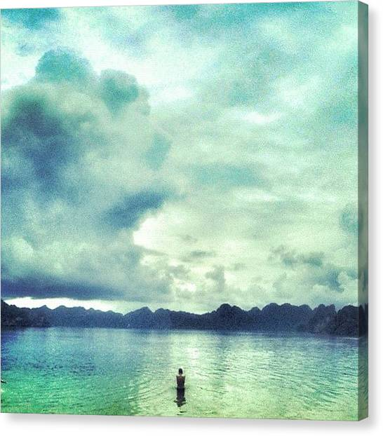 Vietnamese Canvas Print - #asia #vietnam #halon #beach #bay by Pepe Ruiz