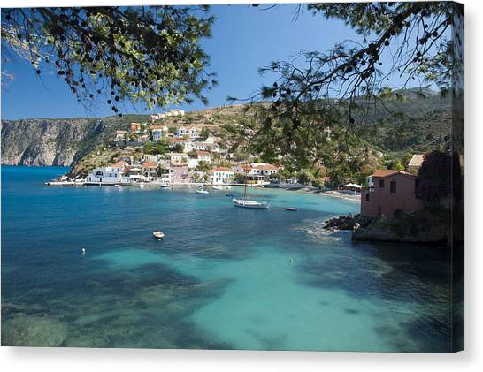 Assos In Kefalonia Canvas Print