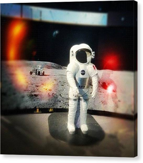 Science Canvas Print - #astronaut #space #suit #planetarium by Victor Wong