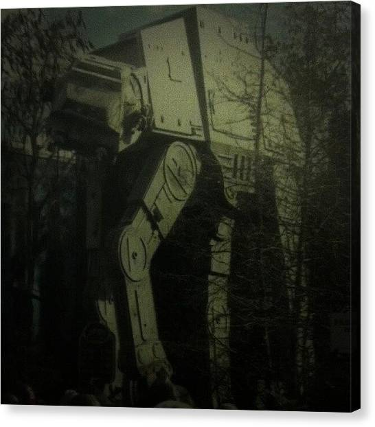 Star Wars Canvas Print - At-at Walker In The Woods Behind My by Mark Caporelli
