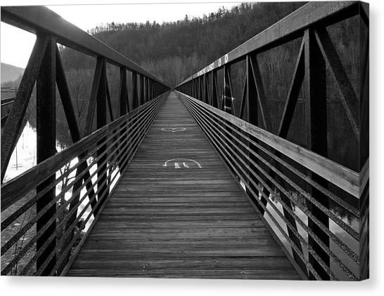 At Bridge Vanishing Point Canvas Print by Alan Raasch