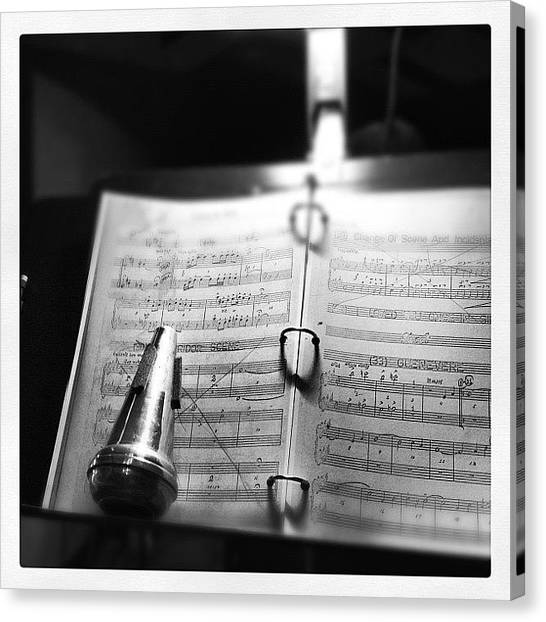 Wind Instruments Canvas Print - At Rehearsal by Rob Murray