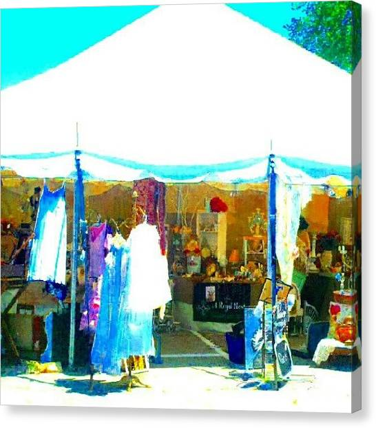 Impressionism Canvas Print - At The Antique Show #abstract #android by Marianne Dow