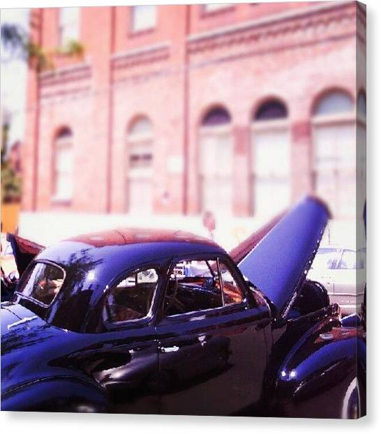Ford Canvas Print - At The Car Show by Anna Beasley