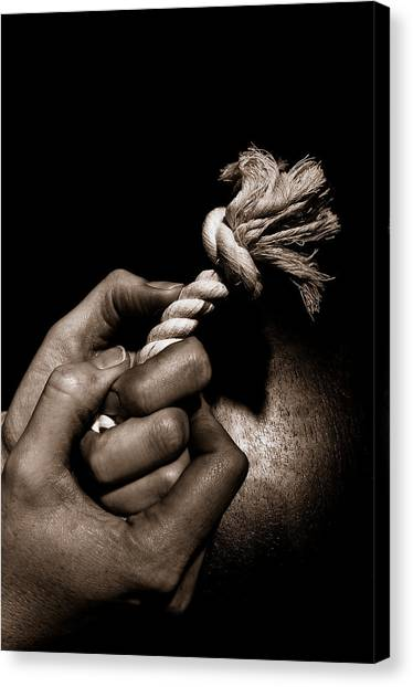 At The End Of My Rope Canvas Print