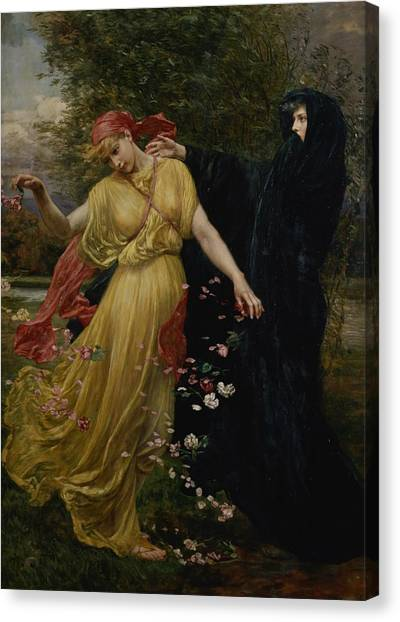 The Joy Of Life Canvas Print - At The First Touch Of Winter Summer Fades Away by Valentine Cameron Prinsep