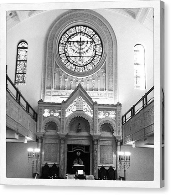 Meat Canvas Print - At The Jewish Synagog by Tara Ham