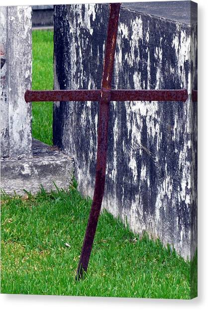 At The Old Rusty Cross Canvas Print by Rdr Creative