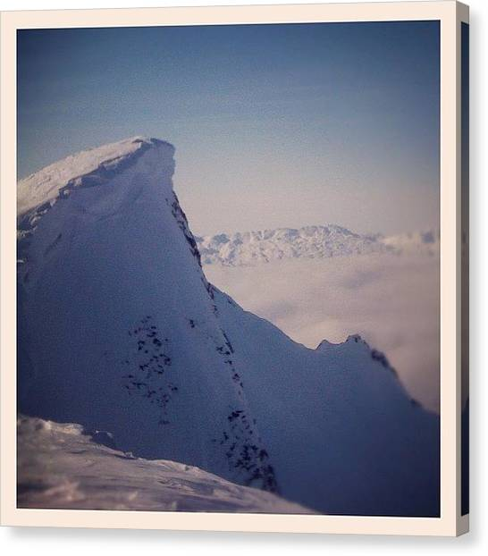 Glaciers Canvas Print - At The Top!! by Marce HH