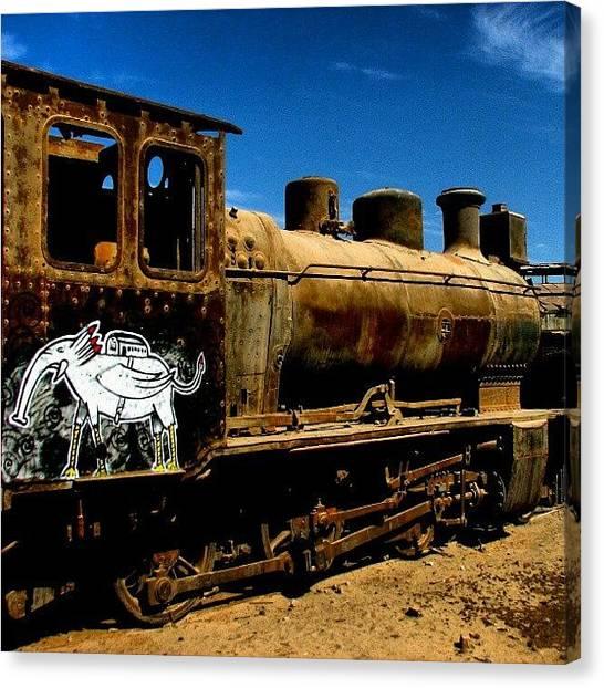 Locomotive Canvas Print - #atacama #chile #baquedano #locomotiva by Gogliardo Maragno