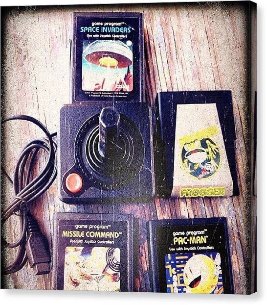 Atari Canvas Print - #atari Joystick. Now, That's by Arthur S.