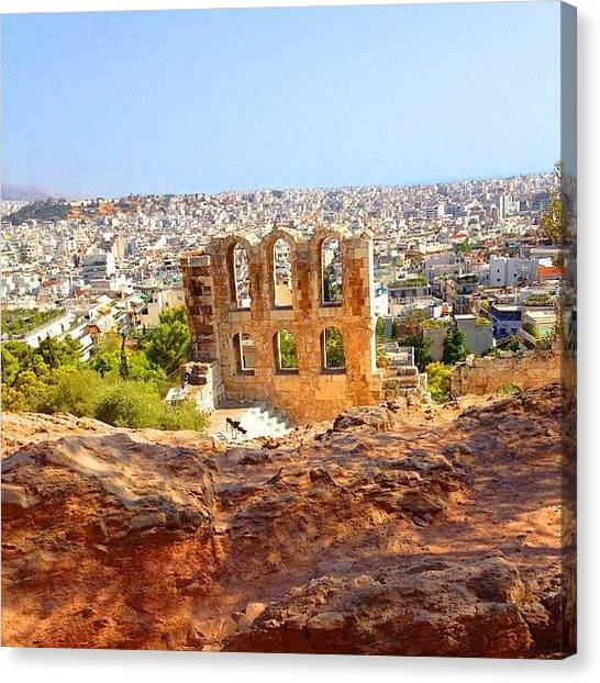 Athens Canvas Print - Athens #athens #greece #greece2012 by Dimitre Mihaylov