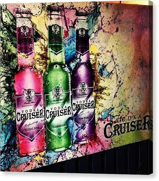 Vodka Canvas Print - #atherton #cruiser by Renee Bradley