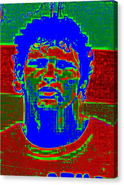 Pixelated Canvas Print - Athlete by Randall Weidner
