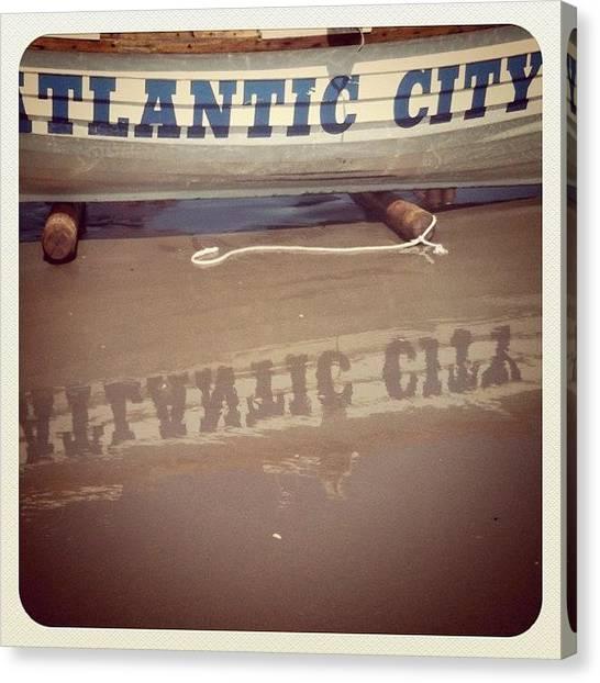 Jerseys Canvas Print - Atlantic City Nj by Tina Marie