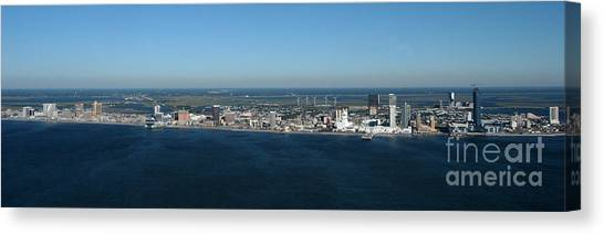 Atlantic City Skyline Panoramic Canvas Print