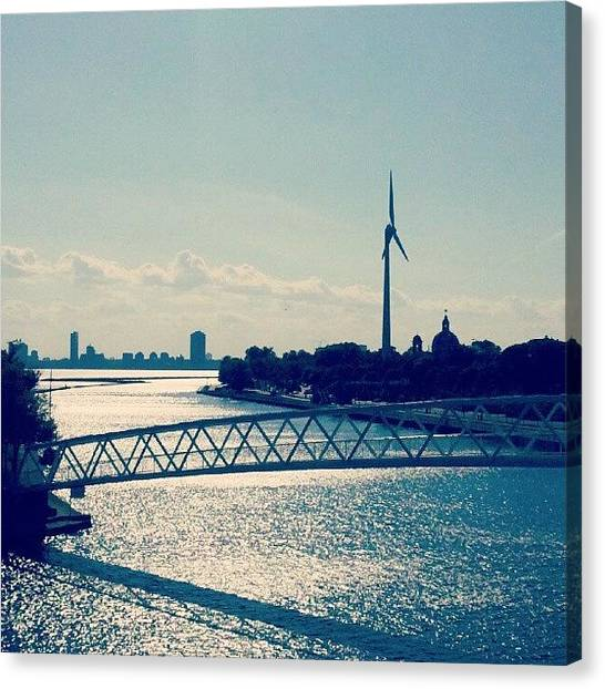 Toronto Skyline Canvas Print - #atlantis #turbine #water #toronto by Joy O