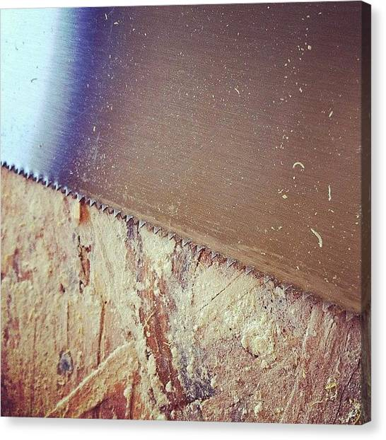Saws Canvas Print - Au Chantier | On The Worksite. #saw by Val Lao