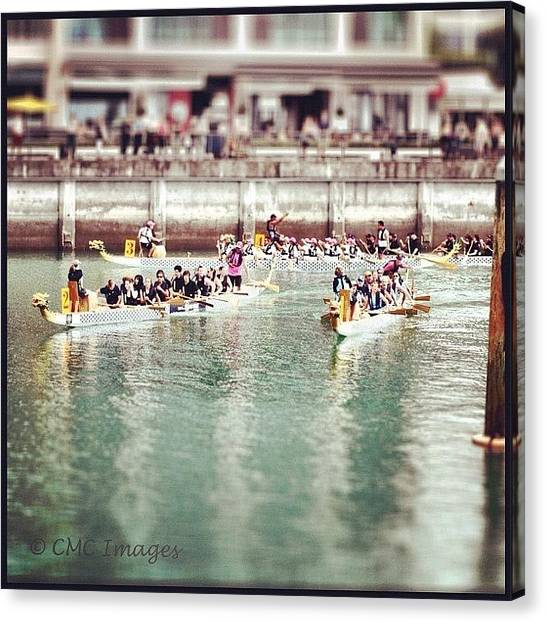 Anniversary Canvas Print - #auckland #anniversary #dragonboat by Chrysler Carlow