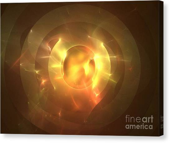 Fire Ball Canvas Print - Auge by Kim Sy Ok