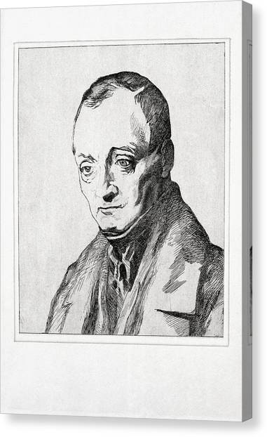 Atheism Canvas Print - Auguste Comte, French Philosopher by Humanities & Social Sciences Librarynew York Public Library