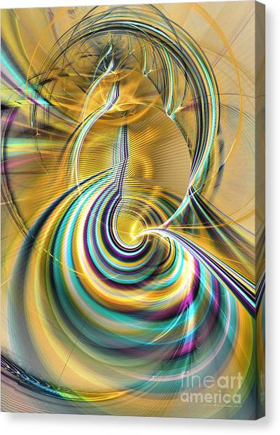 Aurora Of Yellowness Canvas Print by Sipo Liimatainen