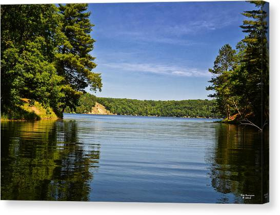 Canvas Print - Ausable River In June by Peg Runyan