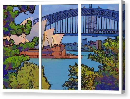 Australian Icons 1 Canvas Print