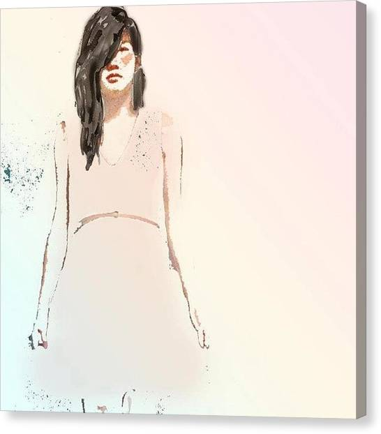 Teeth Canvas Print - Autoportrait :) I Did An Autoportrait by Kimmi B.