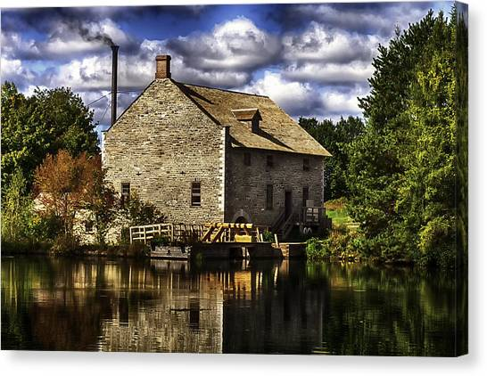 Autum At The Mill Canvas Print