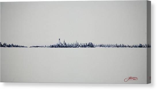 Autum Skyline Canvas Print