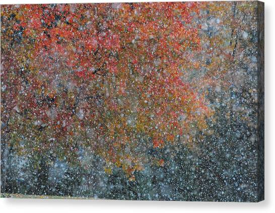 Autumn And Winter Canvas Print by Kimberly Little