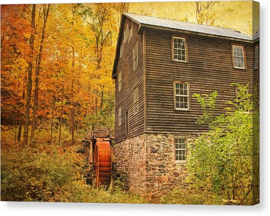 Autumn At Millbrook 4 - The Grist Mill Canvas Print