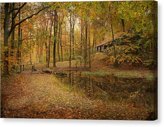 Autumn At Voorhees Canvas Print