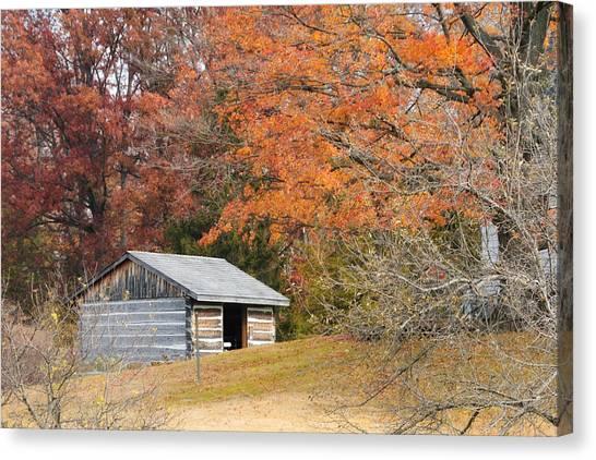 Autumn Behind The Homestead Canvas Print