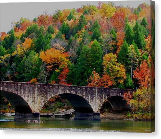 Autumn Bridge 2 Canvas Print