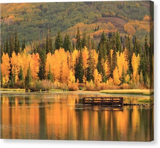 Autumn Calm Canvas Print by Gene Praag